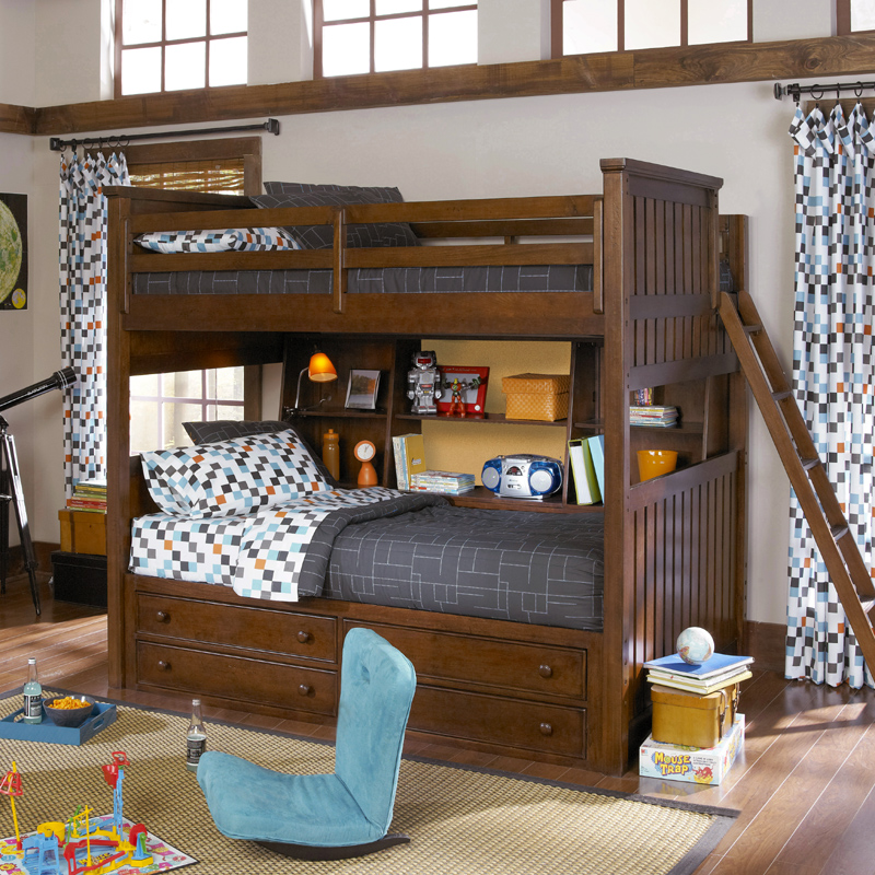28 bunk beds twin over full with storage wildon home 174 tw