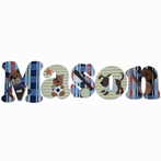Mason Puppies and Sports Hand Painted Wall Letters