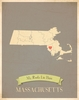 Massachusetts My Roots State Map Art Print