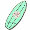 Maui Wowie Girl Surfboard Drawer Pull