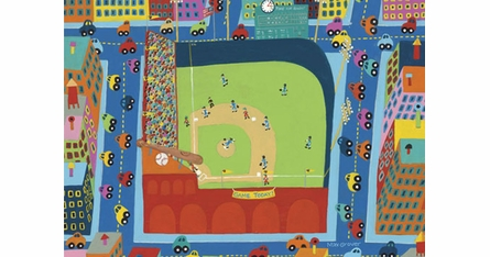 Baseball Theme Placemats - Set Of Four
