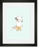 Max In Yellow Booties Framed Art Print