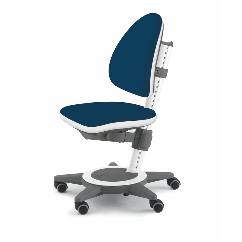 Maximo adjustable desk chair navy blue - Ergonomic table and chair ...
