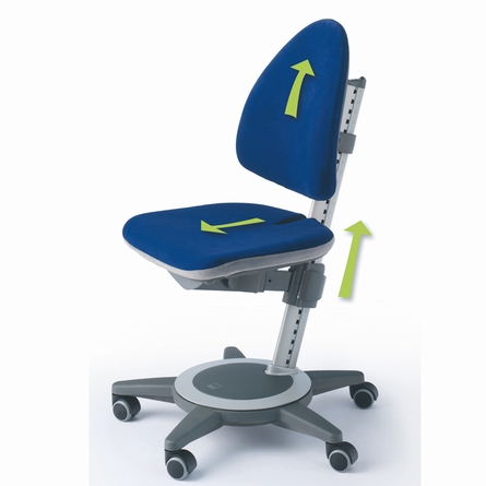 Maximo Adjustable Desk Chair - Navy Blue