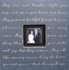 May Love And Laughter Square Picture Frame