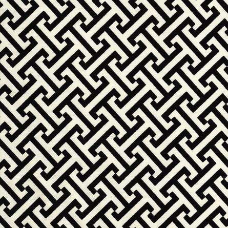 Maze Black Crib Bedding Set