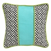 Maze Black Throw Pillow - Square
