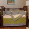Maze Blue Crib Bedding Set