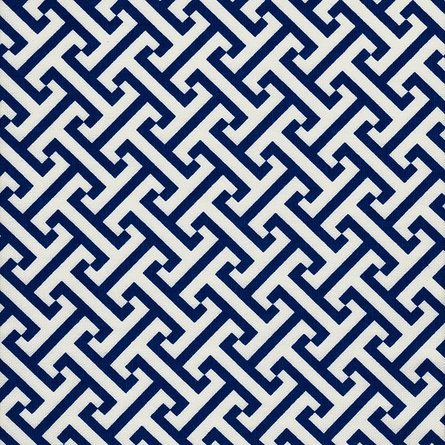 Maze Blue Crib Bedding