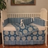 Medallion Blue Crib Bedding