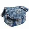 Medallion Blue Messenger Diaper Bag
