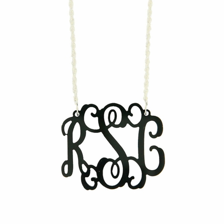 Medium Acrylic Monogram Necklace