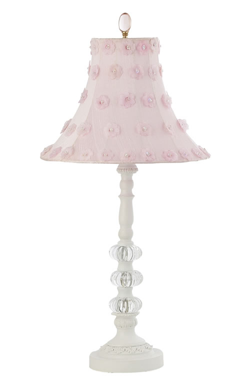 medium glass ball lamp with petal flower shade by jubilee. Black Bedroom Furniture Sets. Home Design Ideas
