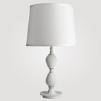 Medium Hobnail Milk Glass Table Lamp
