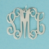 Medium Pewter Floating Filigree Initial Pendant