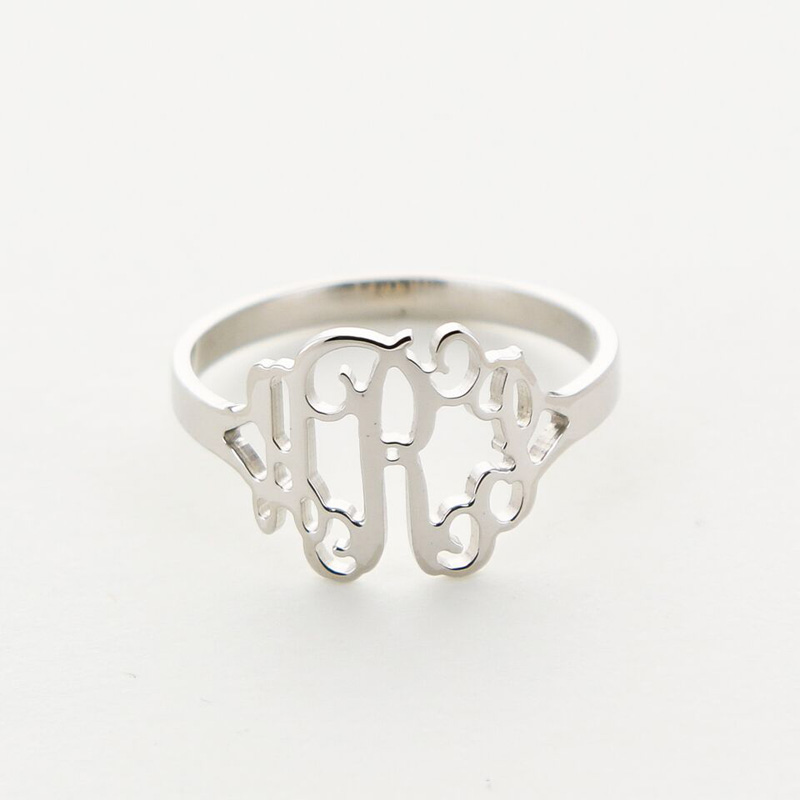 medium sterling silver monogram ring rosenberryrooms