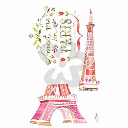 Meet Me In Paris Peel & Place Wall Stickers