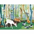 Meeting in the Woods Canvas Reproduction