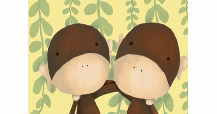 Meghann O'Hara Placemats - Monkey Business - Set Of Four