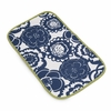 Memory Foam Changing Pad in Cobalt Blossoms