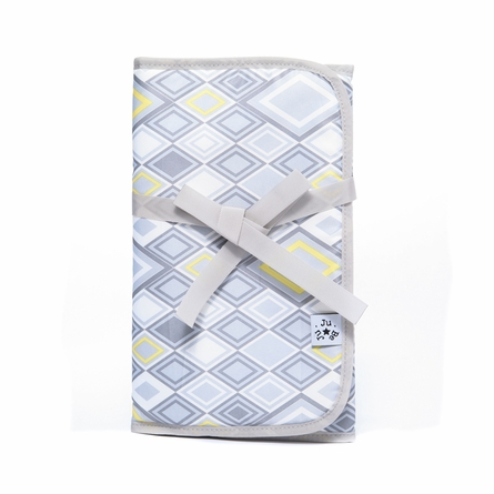 Memory Foam Changing Pad in Silver Ice