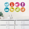 Menagerie Weekly Dry-Erase Dots Wall Decals