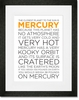 Mercury Facts Framed Art Print