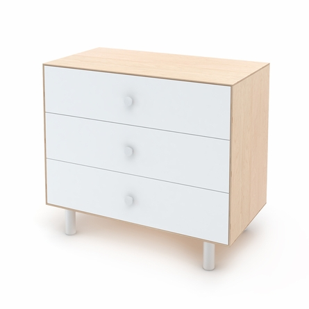 Classic 3 Drawer Dresser in Birch and White