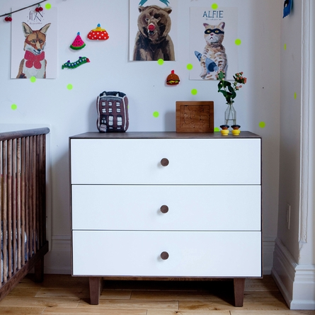 Merlin 3-Drawer Dresser with Rhea Base