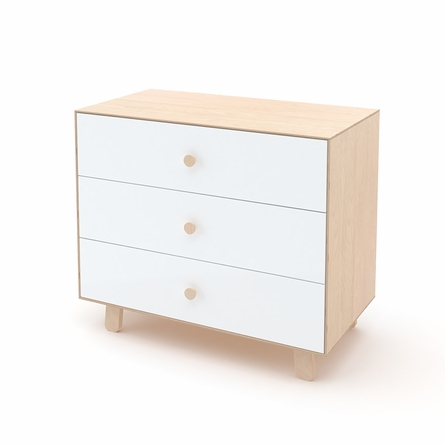 Sparrow 3 Drawer Dresser in Birch and White