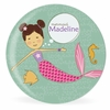 Mermaid Miss Chestnut Personalized Kids Plate