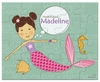 Mermaid Miss Chestnut Personalized Kids Puzzle