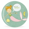 Mermaid Miss Ginger Personalized Kids Plate