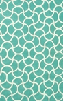 Mermaid Tile Blue Outdoor Rug