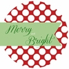 Merry and Bright Personalized Melamine Plate