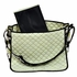 Messenger Diaper Bag in Lime Poppy