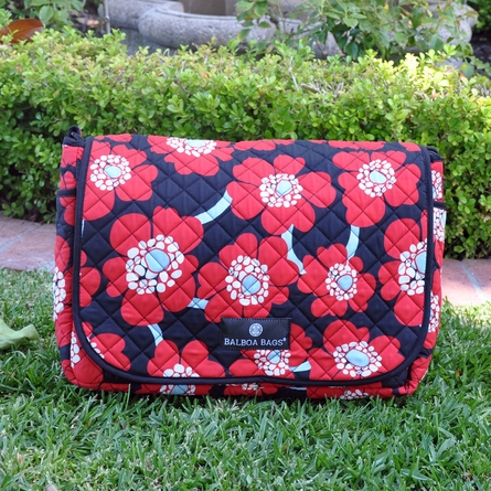 Messenger Diaper Bag in Red Poppy