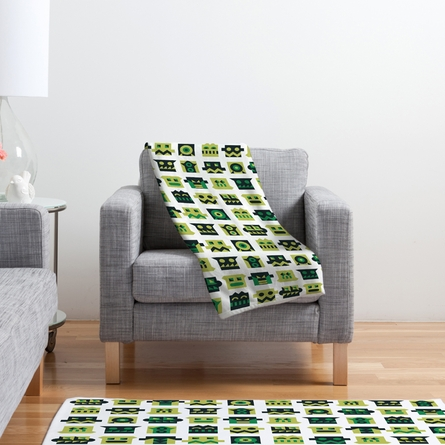 Metal Mugshots Mint Fleece Throw Blanket