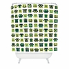 Metal Mugshots Mint Shower Curtain
