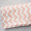 Metallic Coral Chevron Crib Blanket