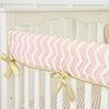 Metallic Coral Chevron Crib Rail Cover