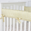 Metallic Gold Chevron Crib Rail Cover
