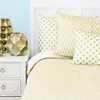 Metallic Gold Chevron Duvet Cover