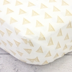 Metallic Gold Triangle Crib Sheet