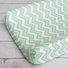 Metallic Mint Chevron Changing Pad Cover