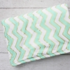 Metallic Mint Chevron Crib Blanket