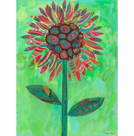 Mexican Sunflower Canvas Wall Art