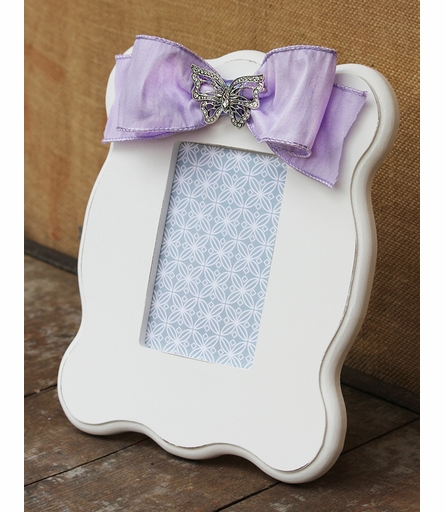 Mia White Scalloped Picture Frame
