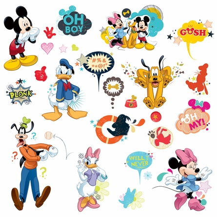 Mickey & Friend Animated Fun Wall Decals