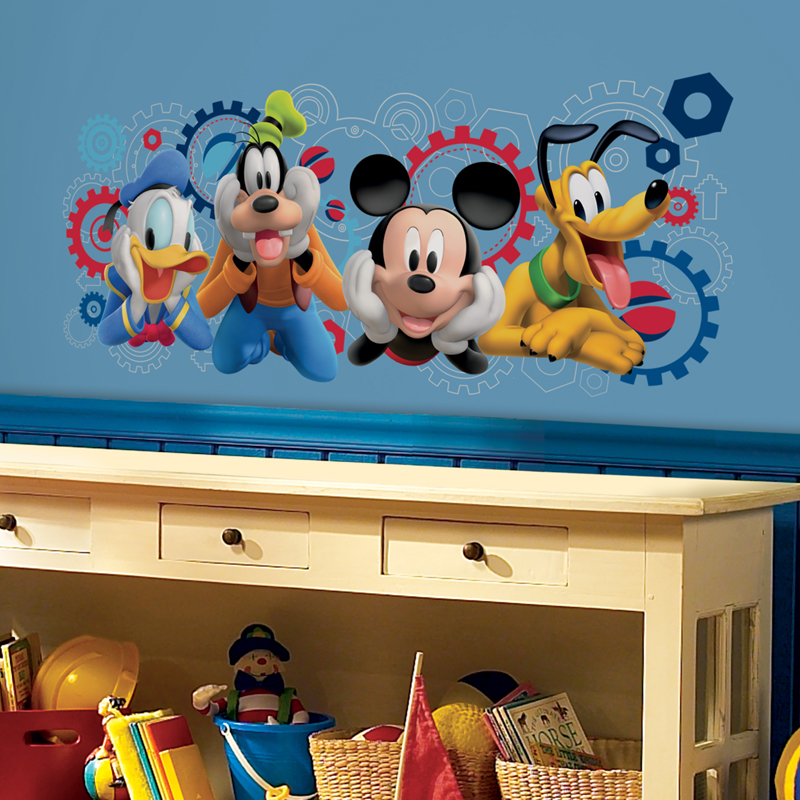 mickey mouse clubhouse capers giant wall decals. Black Bedroom Furniture Sets. Home Design Ideas